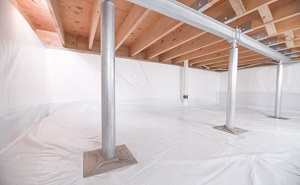 Crawl space structural support jacks installed in Tyendinaga