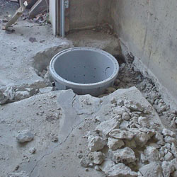 Placing a sump pit in a Sharbot Lake home