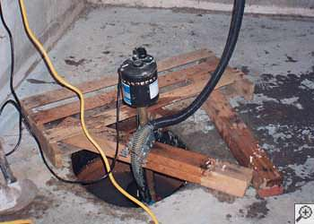 A Ompah sump pump system that failed and lead to a basement flood.