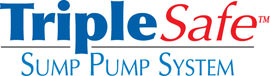 Sump pump system logo for our TripleSafe™, available in areas like Tyendinaga