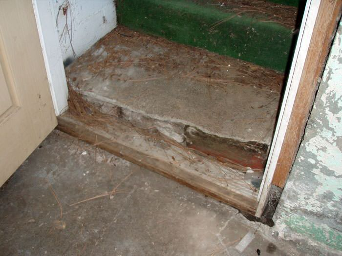 flooded basement in campbellford where water entered through the