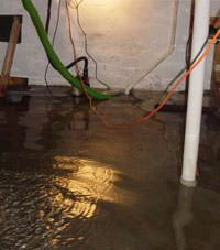 Several feet of floodwaters in a Deseronto basement
