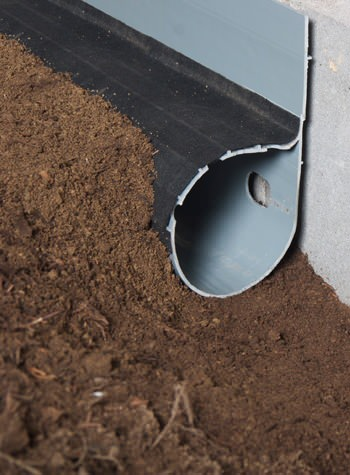 crawl space drain system installed in Verona