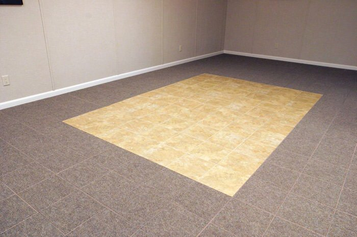 basement tile flooring. tiled and carpeted basement flooring installed in a napanee home · interlocking floor tiles tile