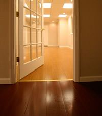 Basement Wood Flooring installed in Bancroft, Ontario
