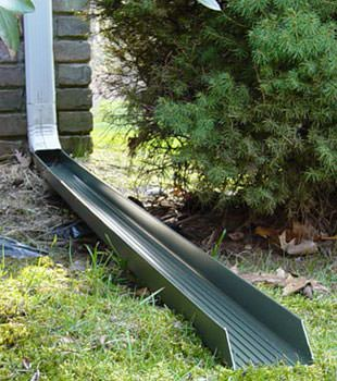 Gutter downspout extension installed in Gananoque