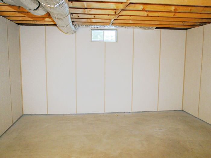 zenwall insulated basement wall panels installed in ontario rh mcinroybasementsystems com basement wall paneling system basement wall paneling options