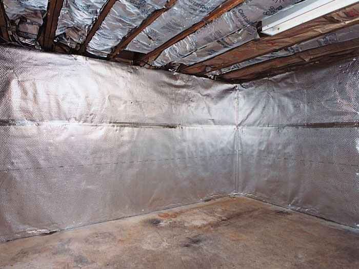 Thermaldry basement radiant wall barrier for ontario for Basement wall insulation blanket